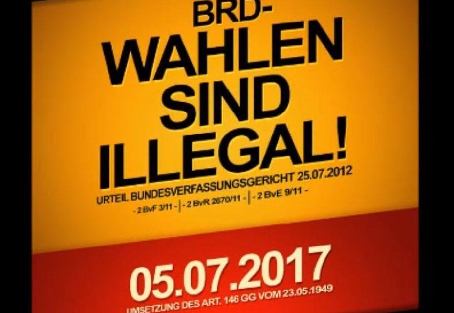 Politische Wahlen in der BRD sind illegal und zum Schaden des Volkes