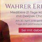 DER NEUE 21-TÄGIGE MEDITATIONSKURS MIT DEEPAK CHOPRA